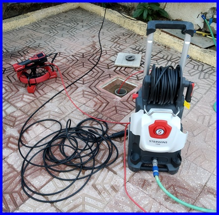 Desatranques de desagües con máquina